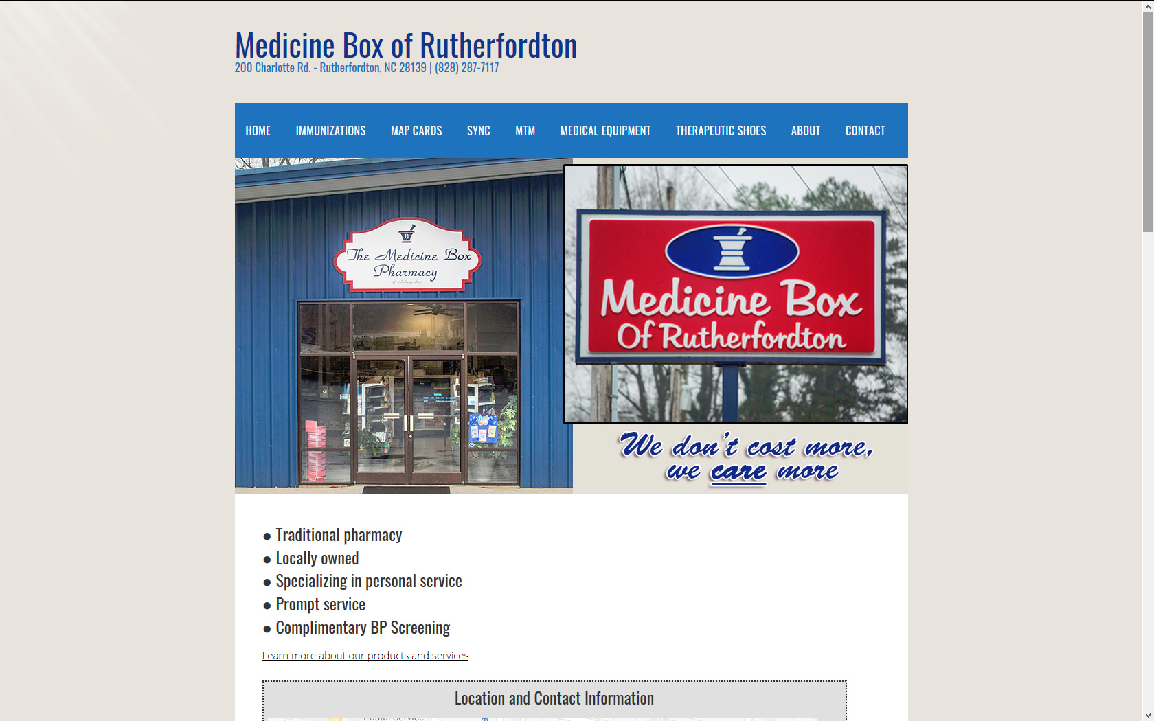 Medicine Box of Rutherfordton
